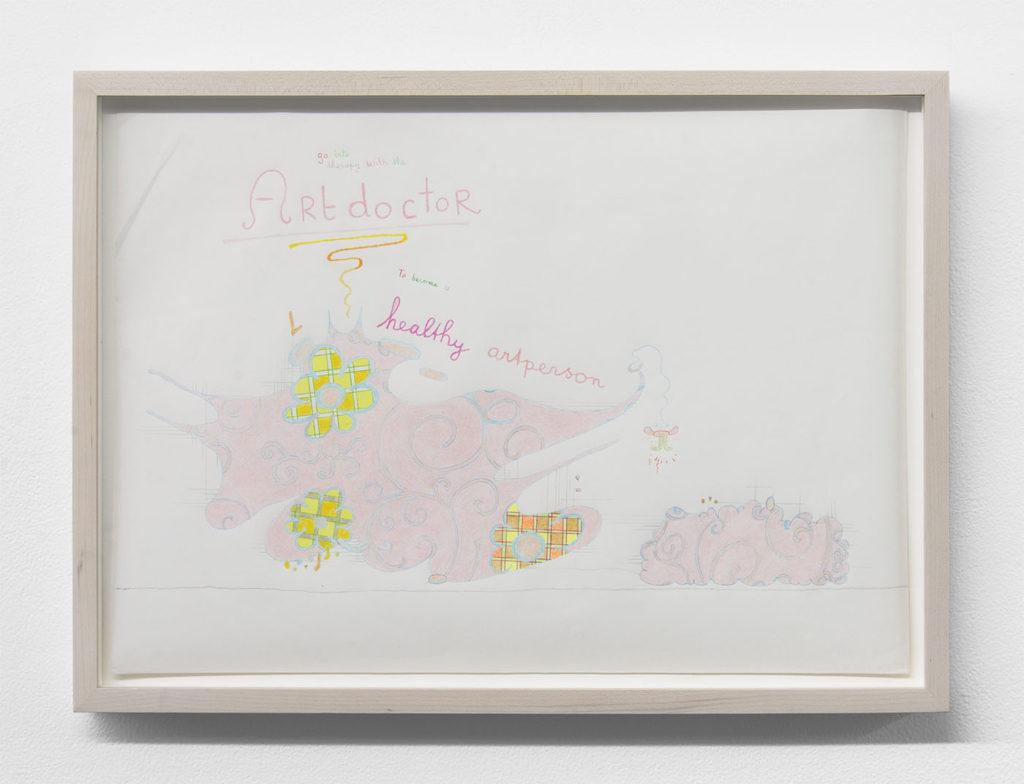 Lily van der Stokker, 'Artdoctor' (2007). Courtesy the artist + Bodega, New York.