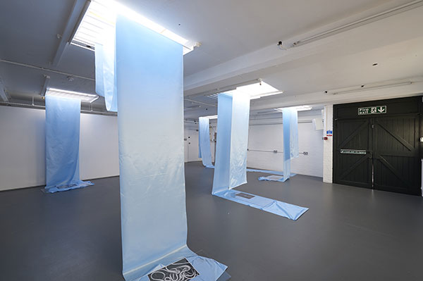 Jacopo Miliani, Studio for a Choreographed Display (2015). Exhibition view. Courtesy the artist and ICA, London