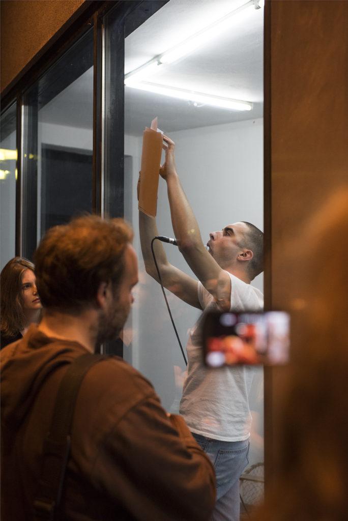 Alex Turgeon, Charon's Obol (2016). Performance view. Courtesy Center, Berlin.