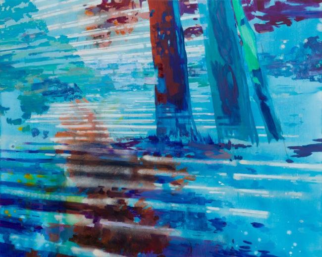 Michelle Jezierski, 'Splice', (2015). Mixed Media on canvas. Photo courtesy of artist + Marcus Schneider