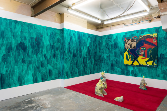 Chris Lux, Sometimes I Say Hey, hey Mark (2015). Exhibition view. Courtesy Jupiter Woods, London.