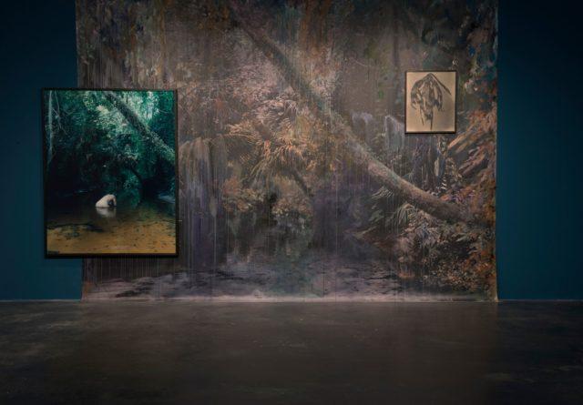 Esther Teichmann, 'Mondschwimmen, Zephyr', (2015). Installation view. Courtesy of the artist + Reiss‐Engelhorn Museum.