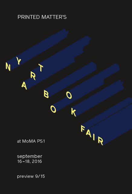NY Art Book Fair, Promotional Flyer (2016). Courtesy of Printed Matter.