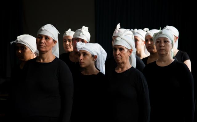 Bouchra Ouizguen. Performance still, (2016). Courtesy the artist + FIAC. Photo : Hasnae El Ouarga